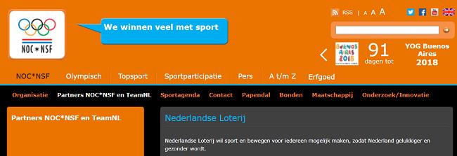 De Nederlandse Loterij draagt bij aan een gelukkige en gezonde samenleving