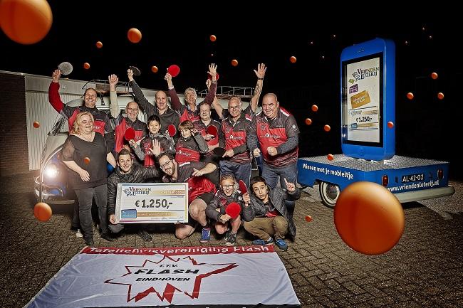 TTV Flash uit Eindhoven ontvangt 1.250 euro extra van VriendenLoterij